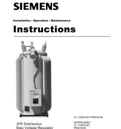 instructions jfr distribution step voltage regulator installation operation maintenance [ 791 x 1024 Pixel ]