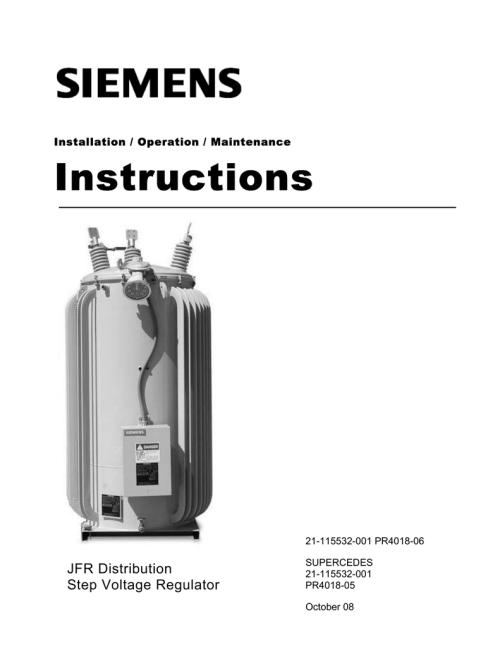 small resolution of instructions jfr distribution step voltage regulator installation operation maintenance