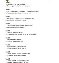 nd Grade Spelling Dictation Sentences [ 1024 x 791 Pixel ]
