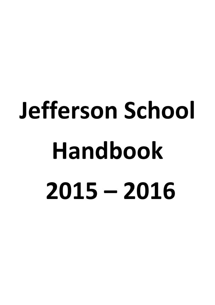 Jefferson School Handbook 2015