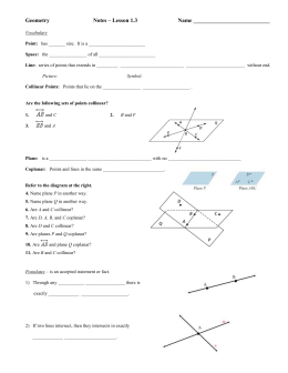TOPIC 2-1: POINTS, LINES & PLANES