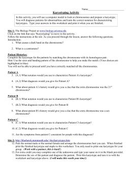 Karyotyping Assignment