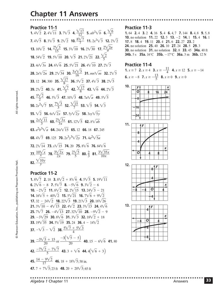 11 3 Practice Problems Answers Prentice Hall