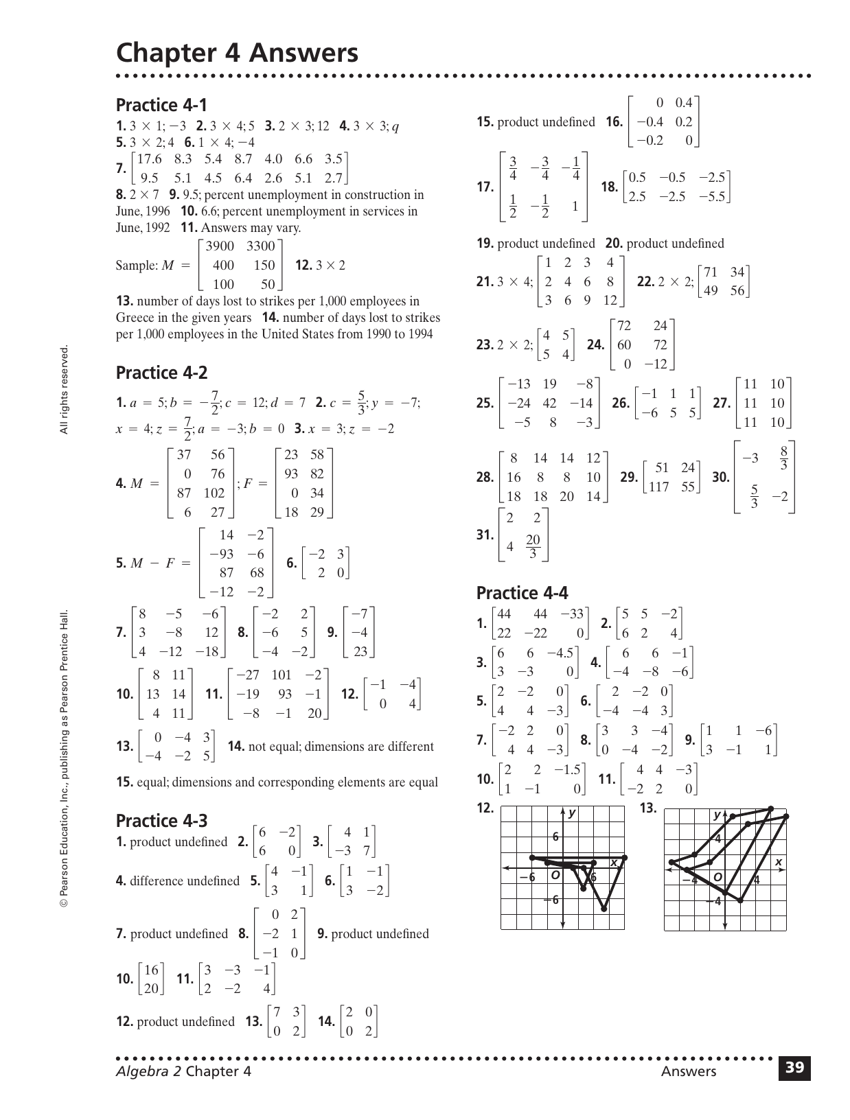 Practice 1 3 Solving Equations Pearson Education Answers