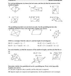 Properties Of Special Parallelograms Worksheet - Nidecmege [ 1024 x 791 Pixel ]