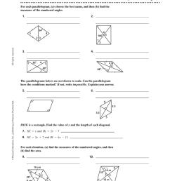 Properties Of Special Parallelograms Worksheet - Worksheet List [ 1024 x 777 Pixel ]
