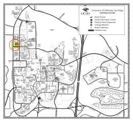 Map of UCSD campus focused on Warren College, Canyonview