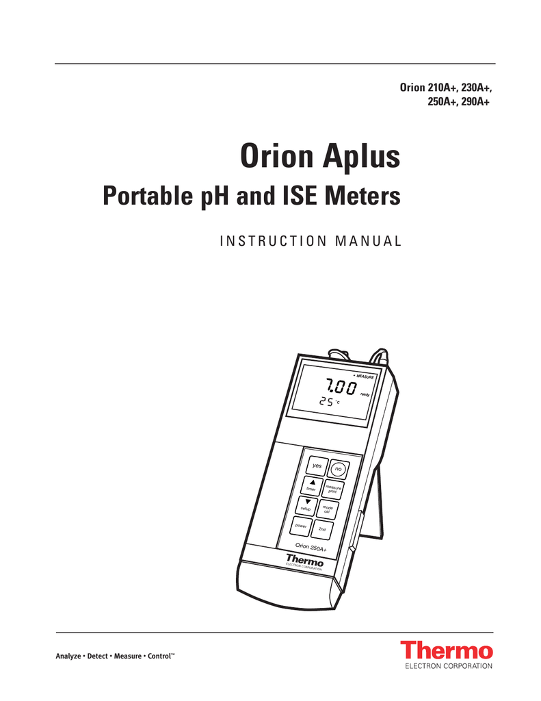 Orion Aplus Portable pH and ISE Meters Orion 210A+, 230A+,