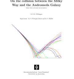 on the collision between the milky way and the andromeda galaxy master thesis astronomy and astrophysics j c j g withagen supervisors dr  [ 791 x 1024 Pixel ]