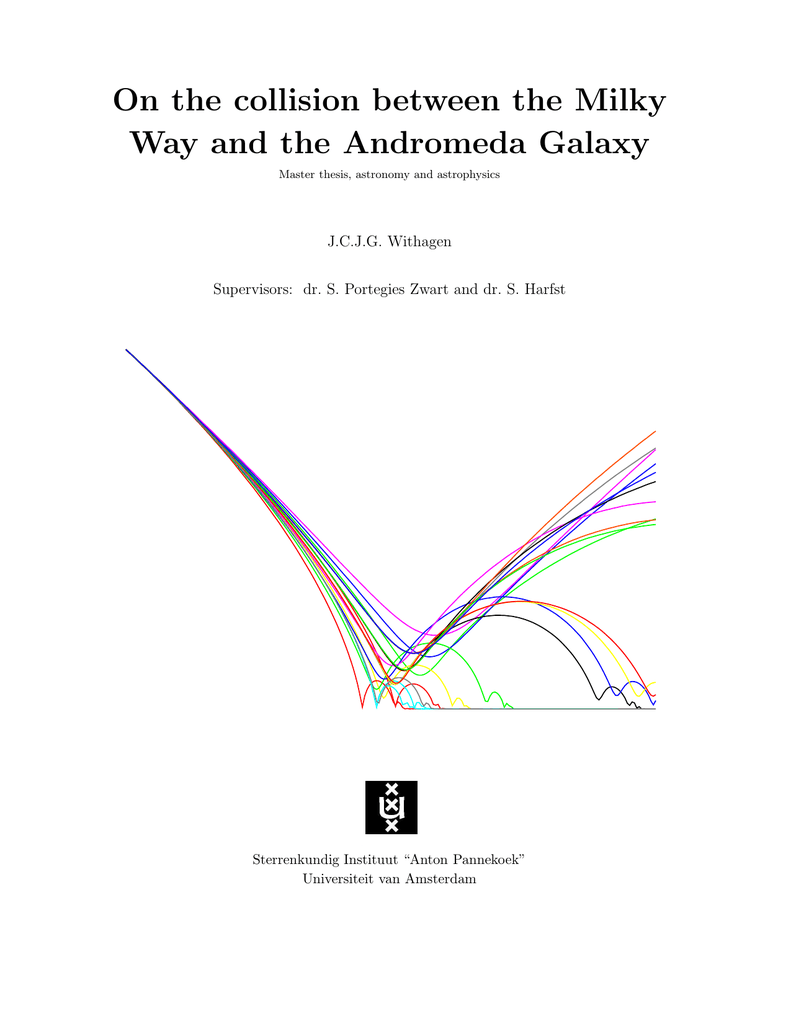 hight resolution of on the collision between the milky way and the andromeda galaxy master thesis astronomy and astrophysics j c j g withagen supervisors dr