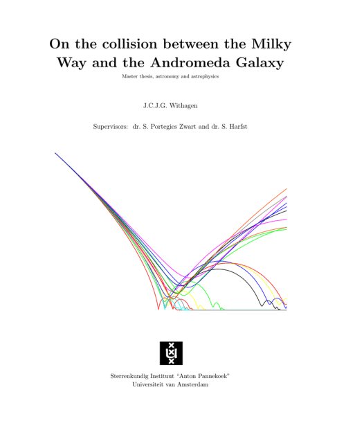 small resolution of on the collision between the milky way and the andromeda galaxy master thesis astronomy and astrophysics j c j g withagen supervisors dr