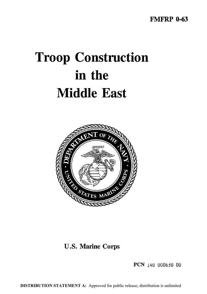 in the Troop Construction Middle East U.S. Marine Corps