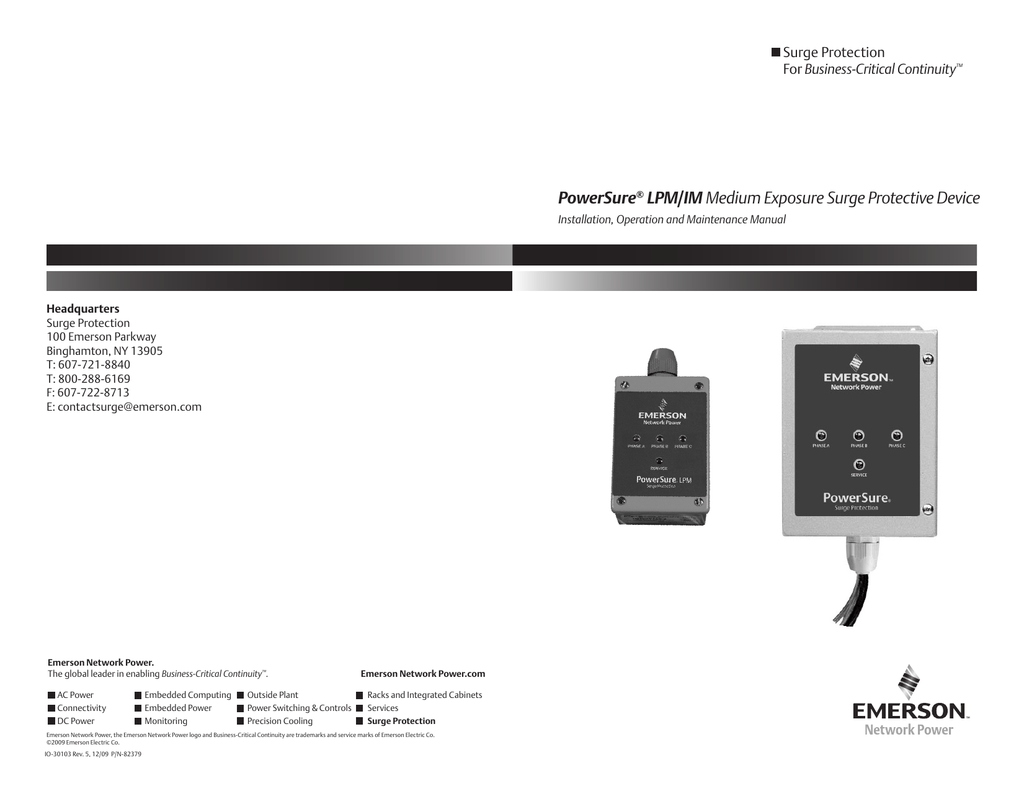 PowerSure LPM/IM Medium Exposure Surge Protective Device