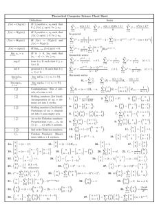 Trigonometric Formula Sheet
