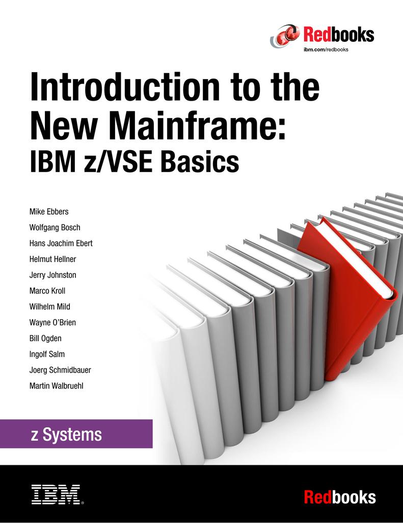 Introduction to the New Mainframe IBM zVSE Basics Front