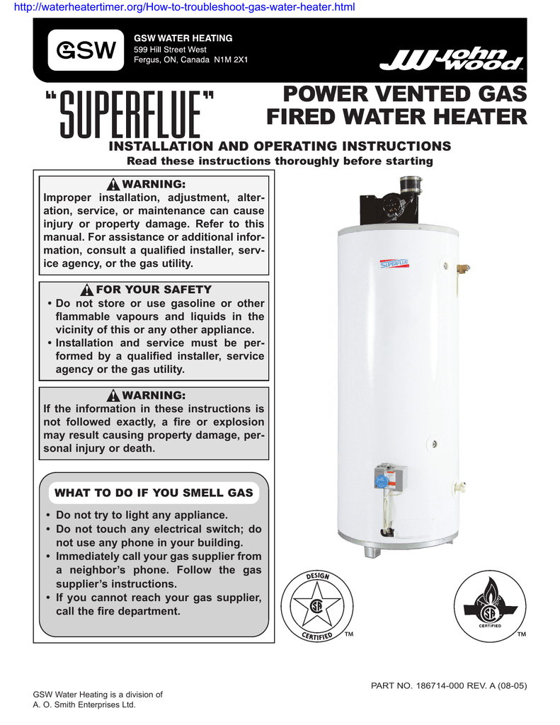 medium resolution of power vented gas fired water heater installation and operating instructions