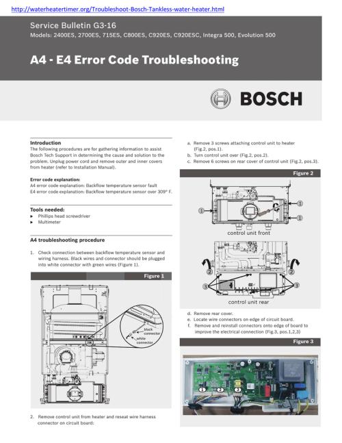 small resolution of http waterheatertimer org troubleshoot bosch tankless water heater html service bulletin g3 16 models 2400es 2700es 715es c800es c920es c920esc