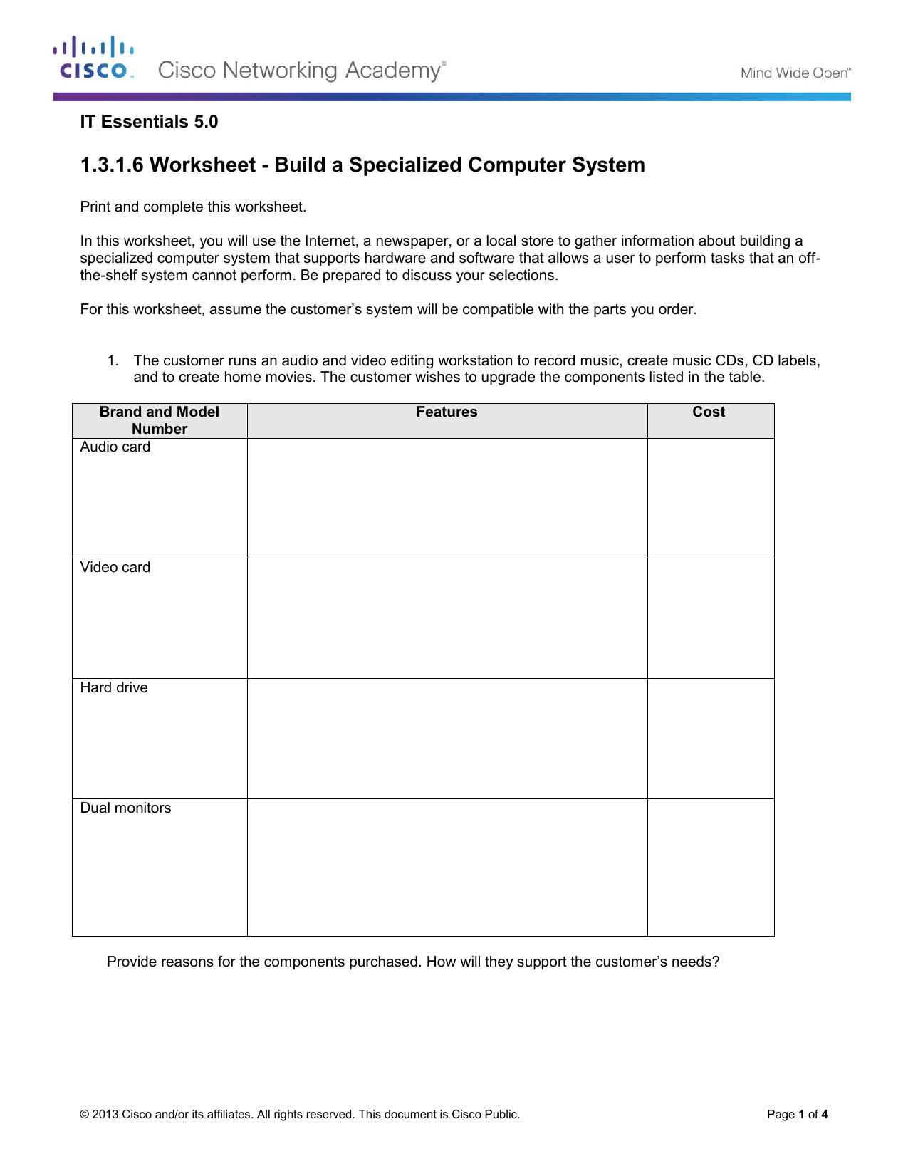 1 3 1 6 Worksheet