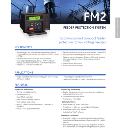 fm2 feeder protection system economical and compact feeder protection for low voltage feeders [ 774 x 1024 Pixel ]