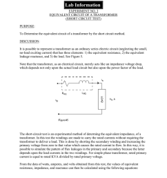 3 equivalent circuit of a transformer short circuit test purpose to determine the equivalent circuit of a transformer by the short circuit method  [ 791 x 1024 Pixel ]