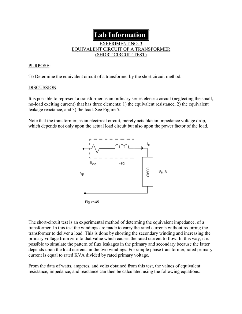 hight resolution of 3 equivalent circuit of a transformer short circuit test purpose to determine the equivalent circuit of a transformer by the short circuit method