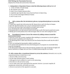 ASAC Writing Lab: Punctuation Exercises [ 1024 x 791 Pixel ]