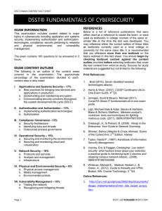 DSST® PRINCIPLES OF SUPERVISION EXAM INFORMATION