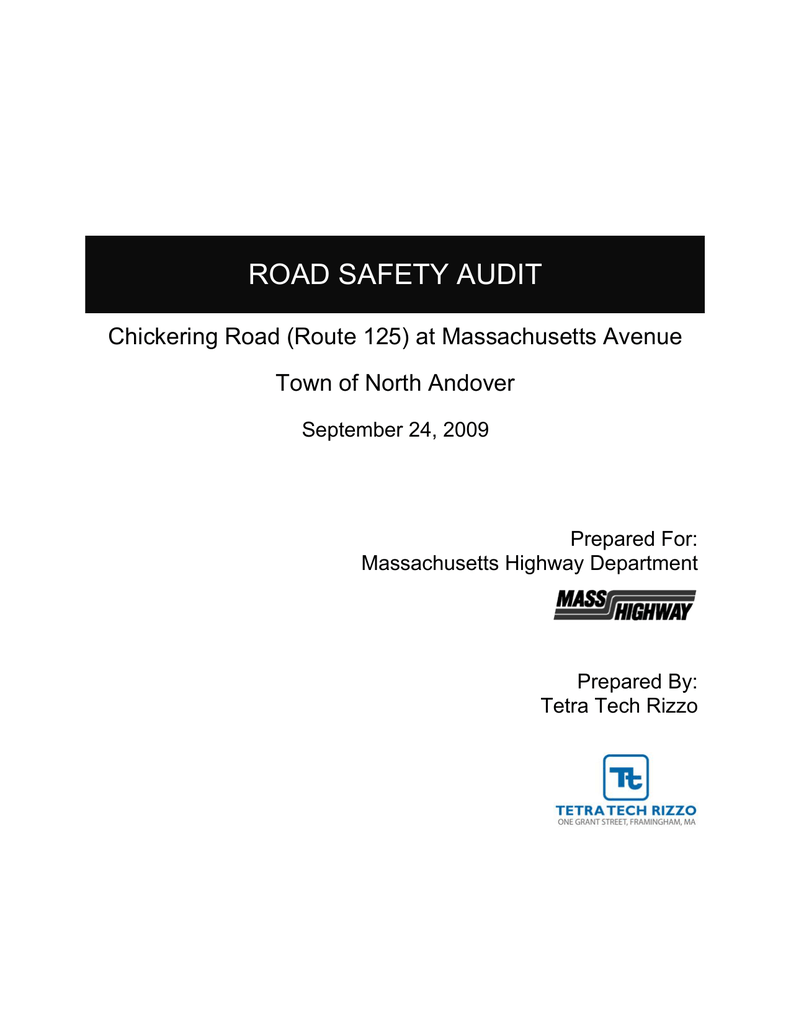 ROAD SAFETY AUDIT Chickering Road (Route 125) at