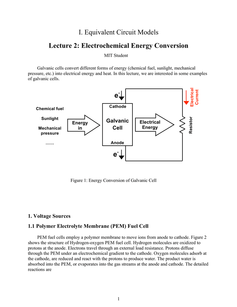 hight resolution of i equivalent circuit models lecture 2 electrochemical energy conversion