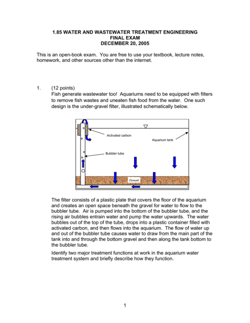 small resolution of 1 85 water and wastewater treatment engineering final exam december 20 2005