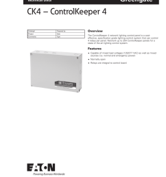 greengate technical data ck4 controlkeeper 4 catalog prepared by project date comments type overview the controlkeeper 4 network lighting control panel  [ 791 x 1024 Pixel ]