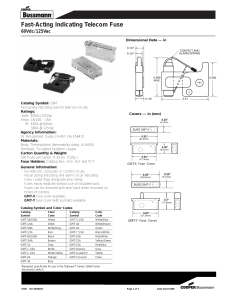 July 28, 2015 To: Bussmann® series Fuse Customers Subject