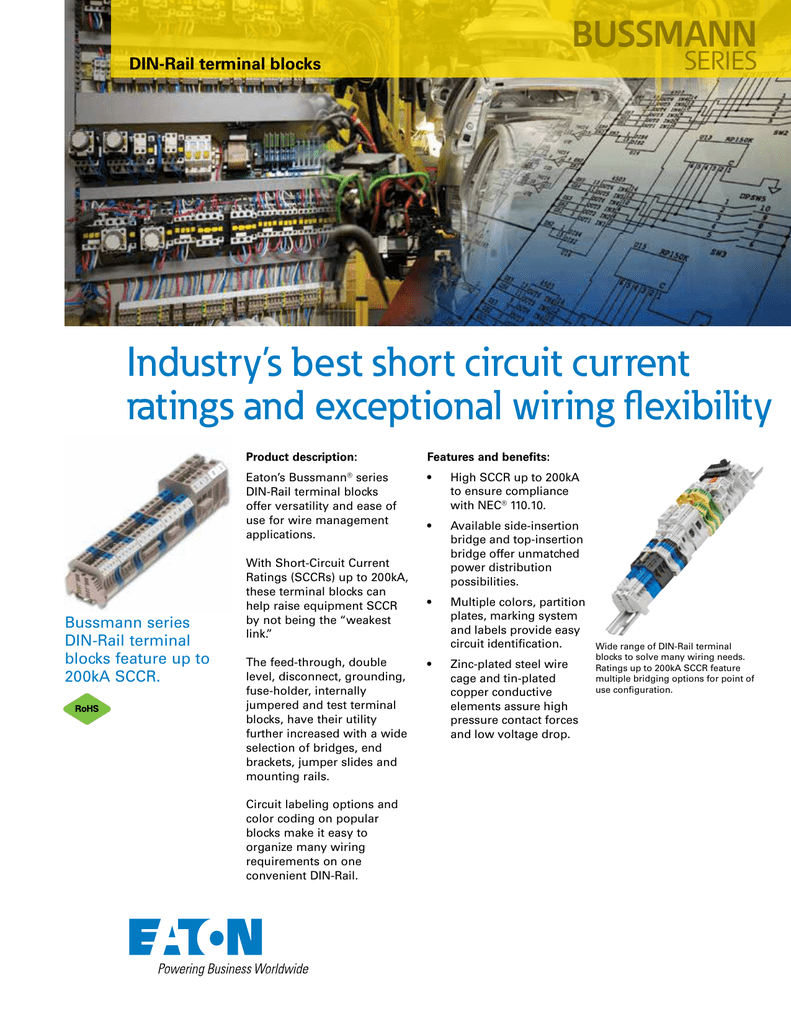medium resolution of industry s best short circuit current ratings and exceptional wiring flexibility bussmann series