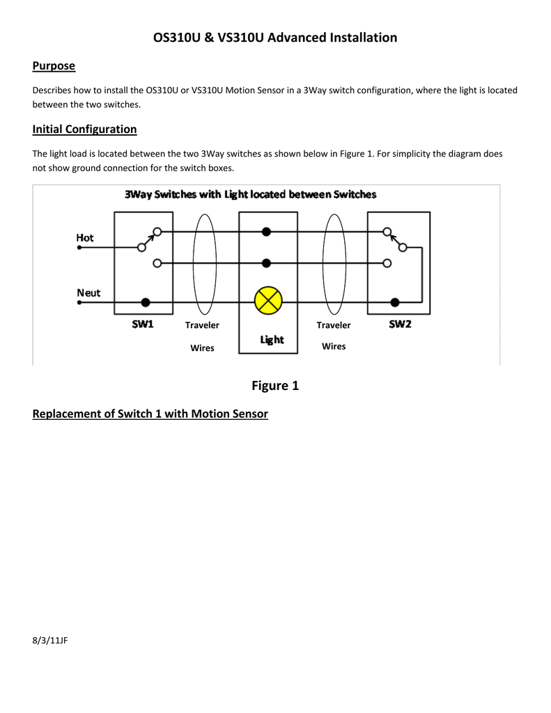 hight resolution of os310u vs310u advanced installation purpose describes how to install the os310u or vs310u motion sensor in a 3way switch configuration where the light is
