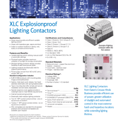 xlc explosionproof lighting contactors new product eaton s crouse hinds business [ 791 x 1024 Pixel ]