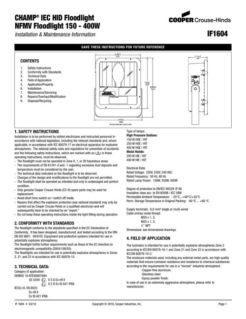 small resolution of 220 3 wire wiring diagram for cooper hid wiring diagrams schematics at champ iec hid floodlight