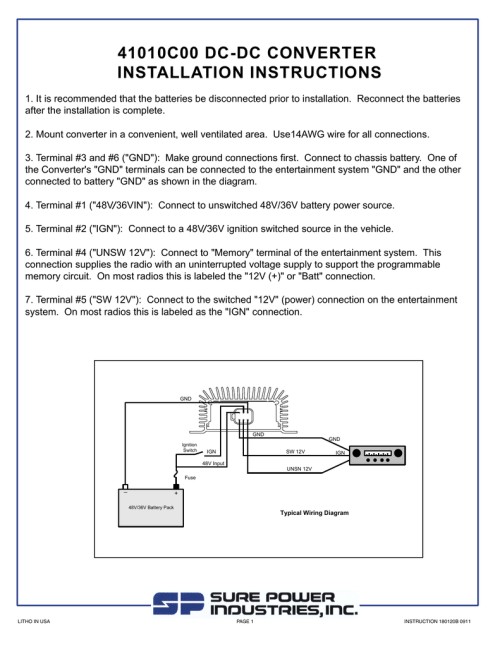 small resolution of power converter wiring diagram for truck on