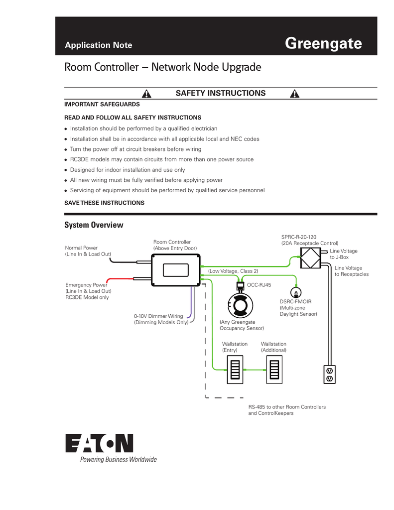 hight resolution of greengate room controller network node upgrade application note rh studylib net ceiling occupancy sensor wiring diagram