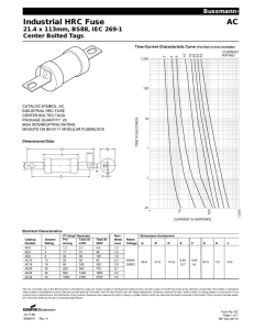 BS1361 Cylindrical House Service Cut-out Fuse