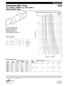 Industrial HRC Fuse GH 84 x 198mm, BS88, IEC 269-1 Center