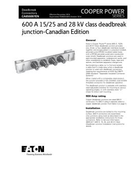 600 A 35 kV class deadbreak junction COOPER POWER SERIES