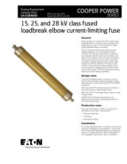 25 kV class fused loadbreak elbow connector COOPER POWER