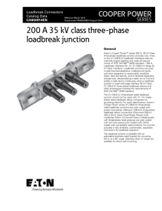 600 A 15/25 kV class deadbreak junction COOPER POWER SERIES