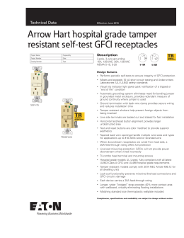 Arrow Hart specification grade GFCI receptacles Technical
