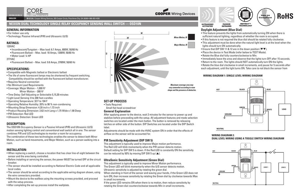 Wiring Diagram Gallery: Cooper Motion Sensor Light Switch