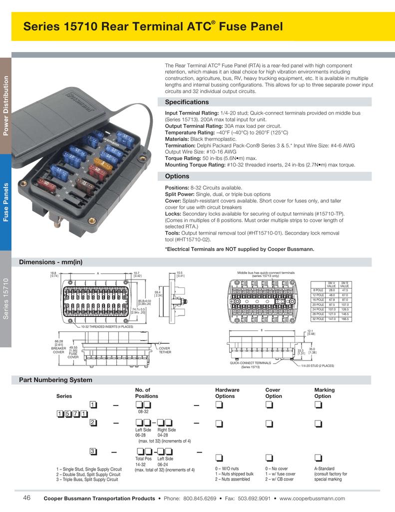 medium resolution of packard terminal fuse box