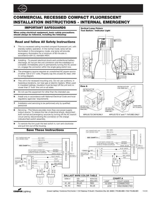 small resolution of commercial recessed compact fluorescent installation instructions