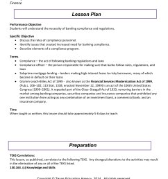 lesson plan compliance and banking regulations banking and financial services finance [ 791 x 1024 Pixel ]