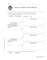 Origins Of The Cold War Worksheet. Worksheets ...