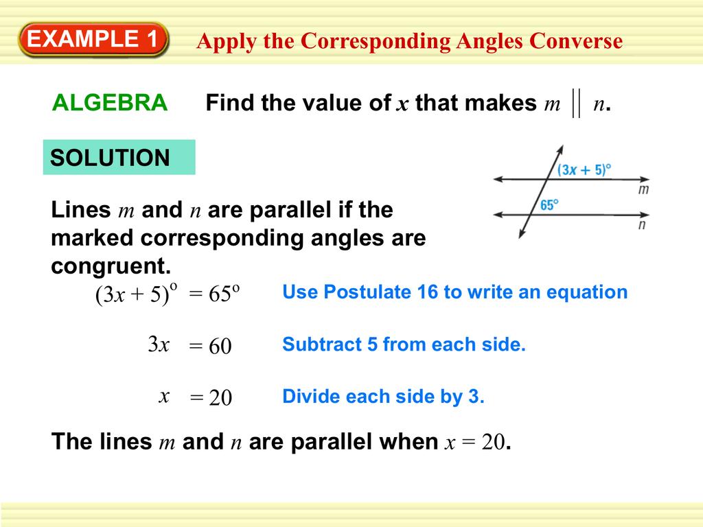 Alternate Interior Angles Converse Example